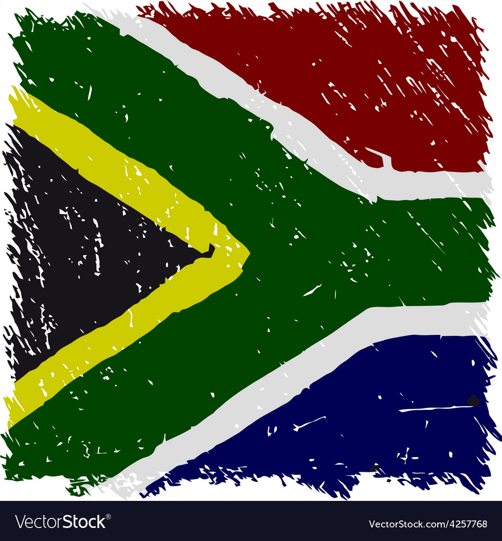 Flag of south africa handmade square shape vector | Price: 1 Credit (USD $1)