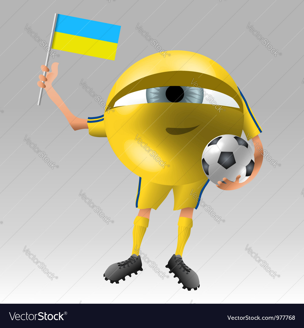 Football ukraine fan eyeball vector | Price: 1 Credit (USD $1)