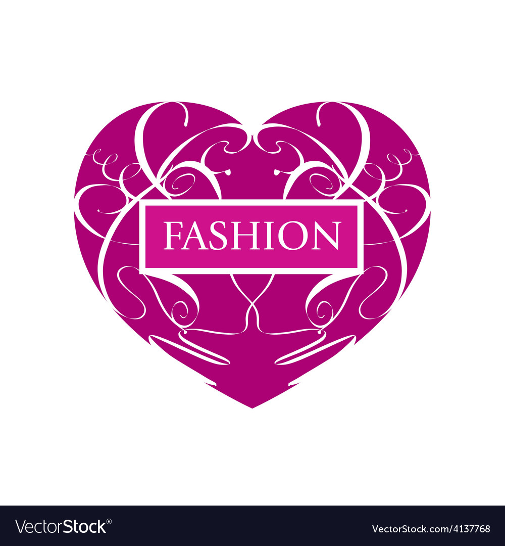 Logo fashionable heart of patterns vector | Price: 1 Credit (USD $1)
