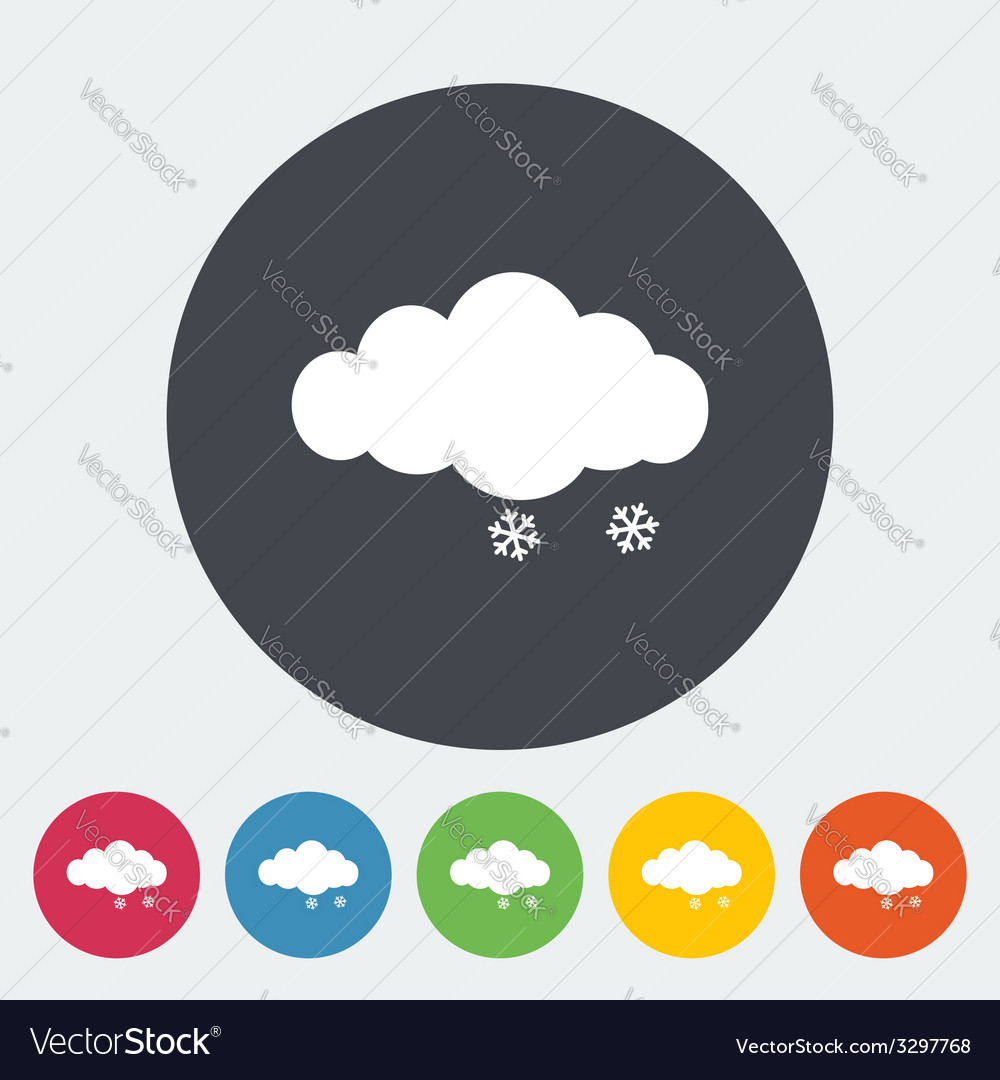 Snow icon vector | Price: 1 Credit (USD $1)