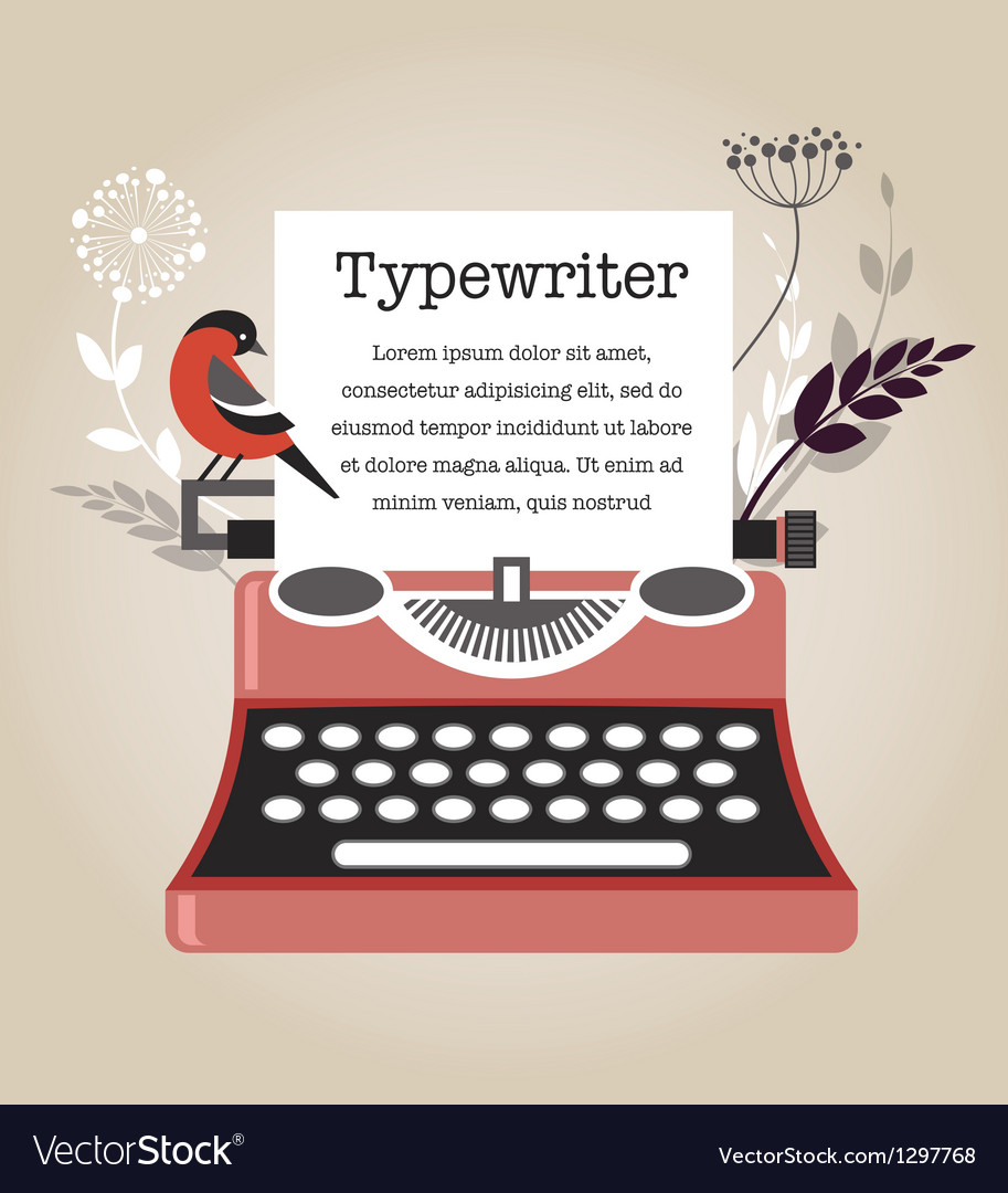 Vintage typewriter vector | Price: 3 Credit (USD $3)