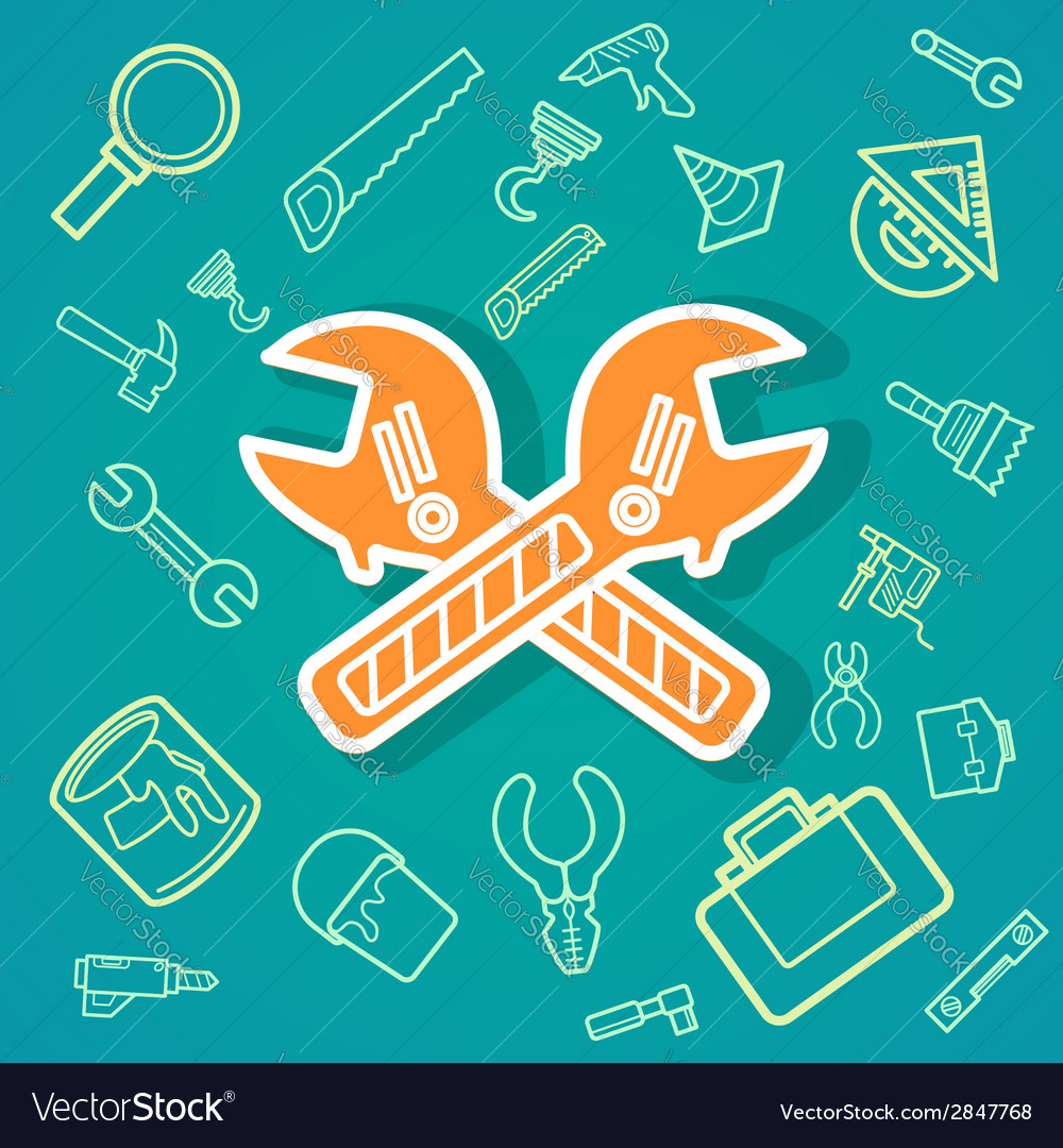 Wrench and tools icons eps10 vector | Price: 1 Credit (USD $1)