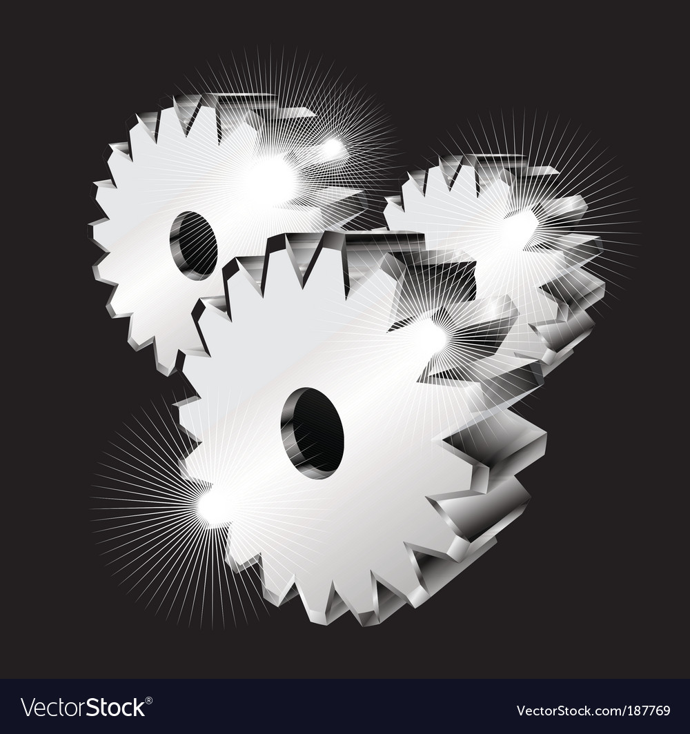 3d gears isolated vector | Price: 3 Credit (USD $3)
