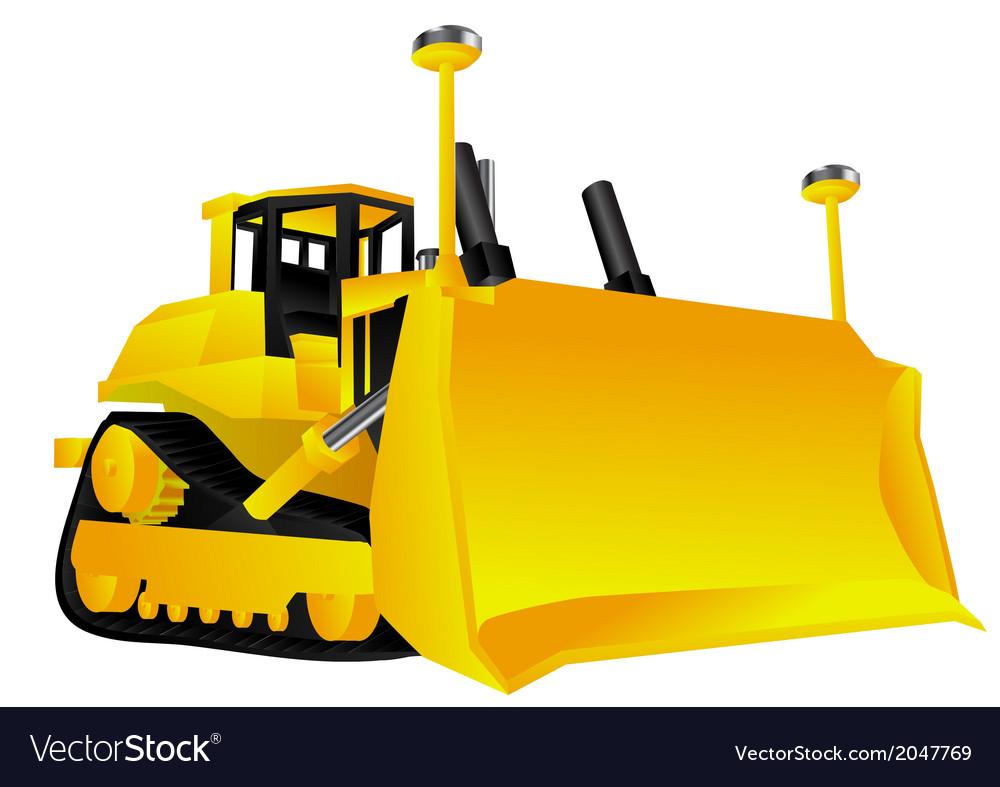 Bulldozer vector | Price: 1 Credit (USD $1)