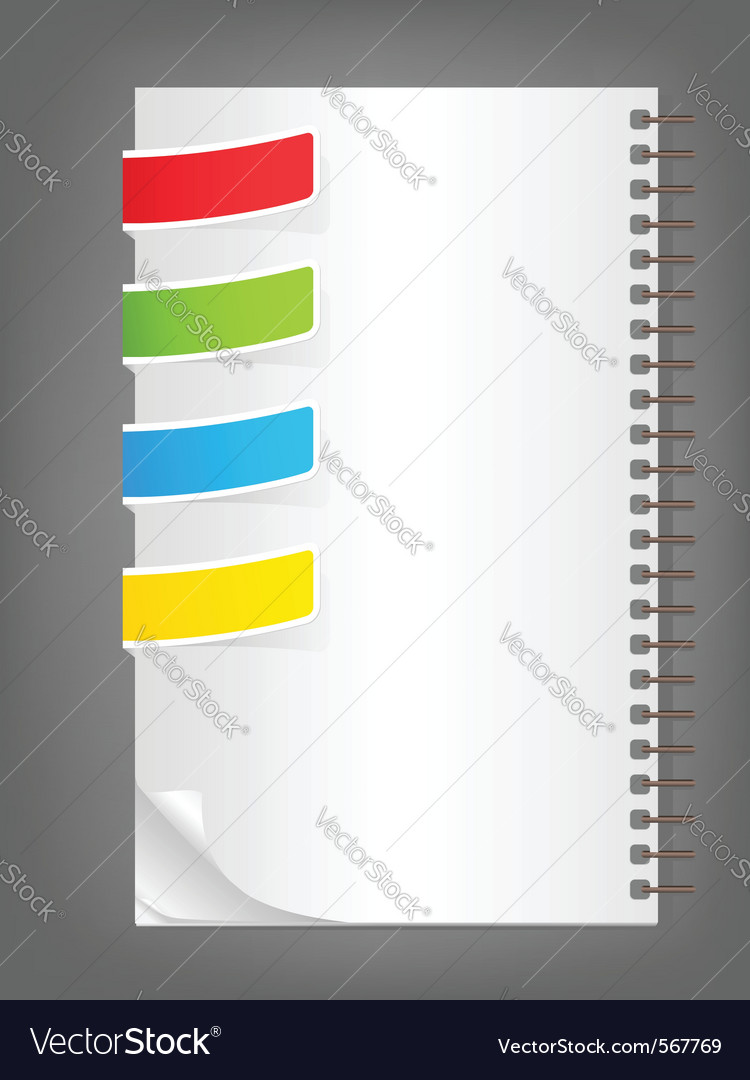 Color bookmarks vector | Price: 1 Credit (USD $1)