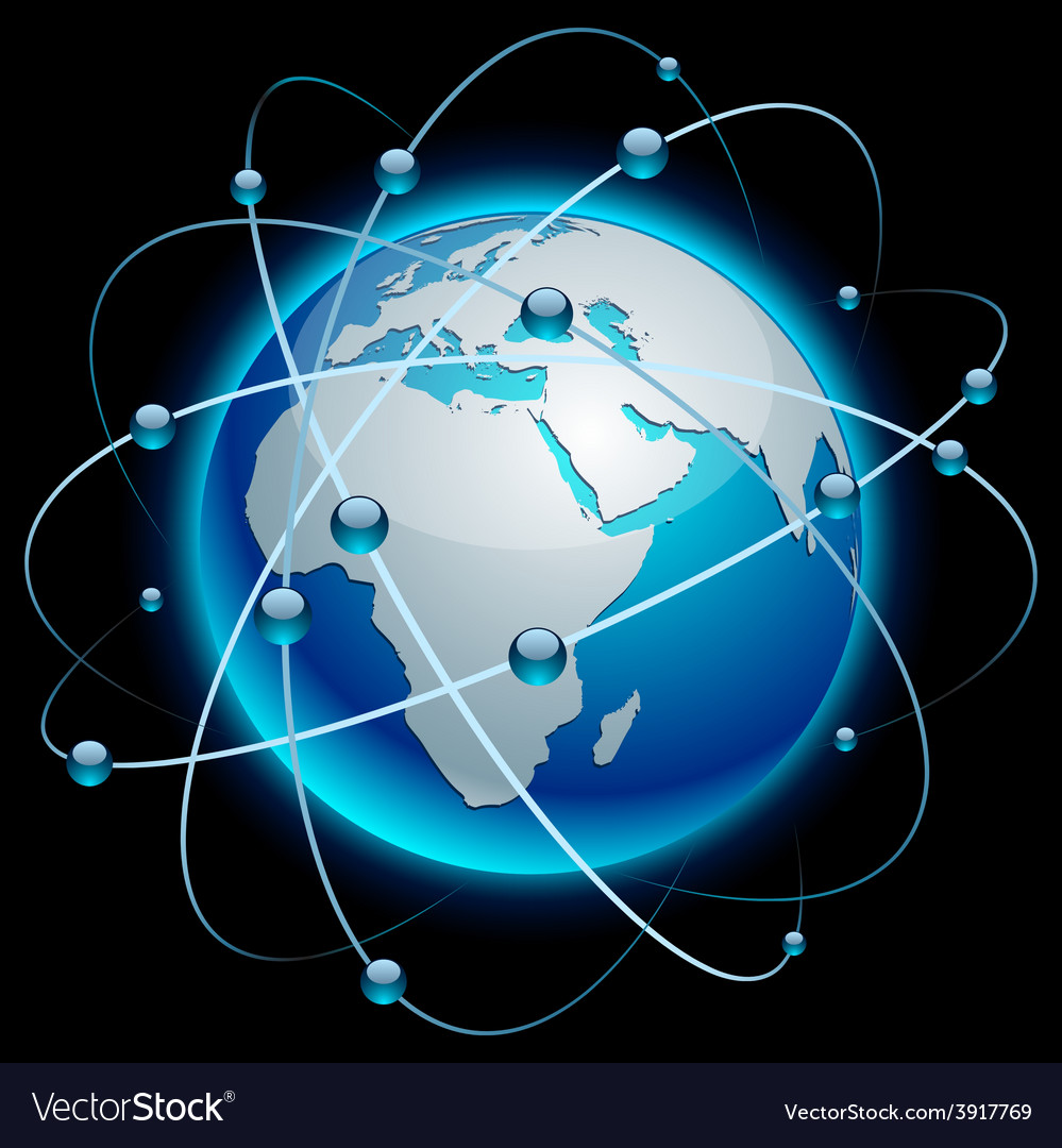 Communication earth - africa vector | Price: 1 Credit (USD $1)