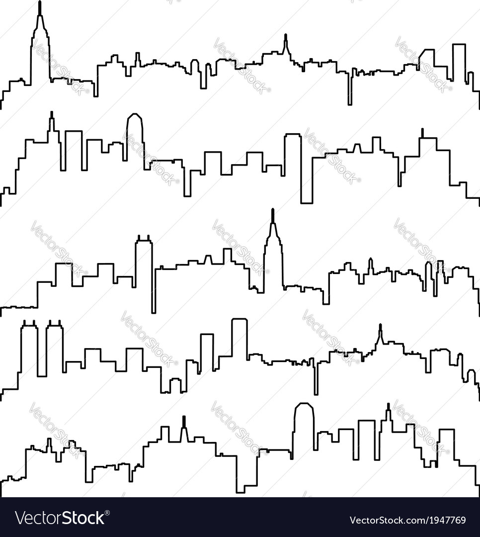 Contours of buildings vector | Price: 1 Credit (USD $1)