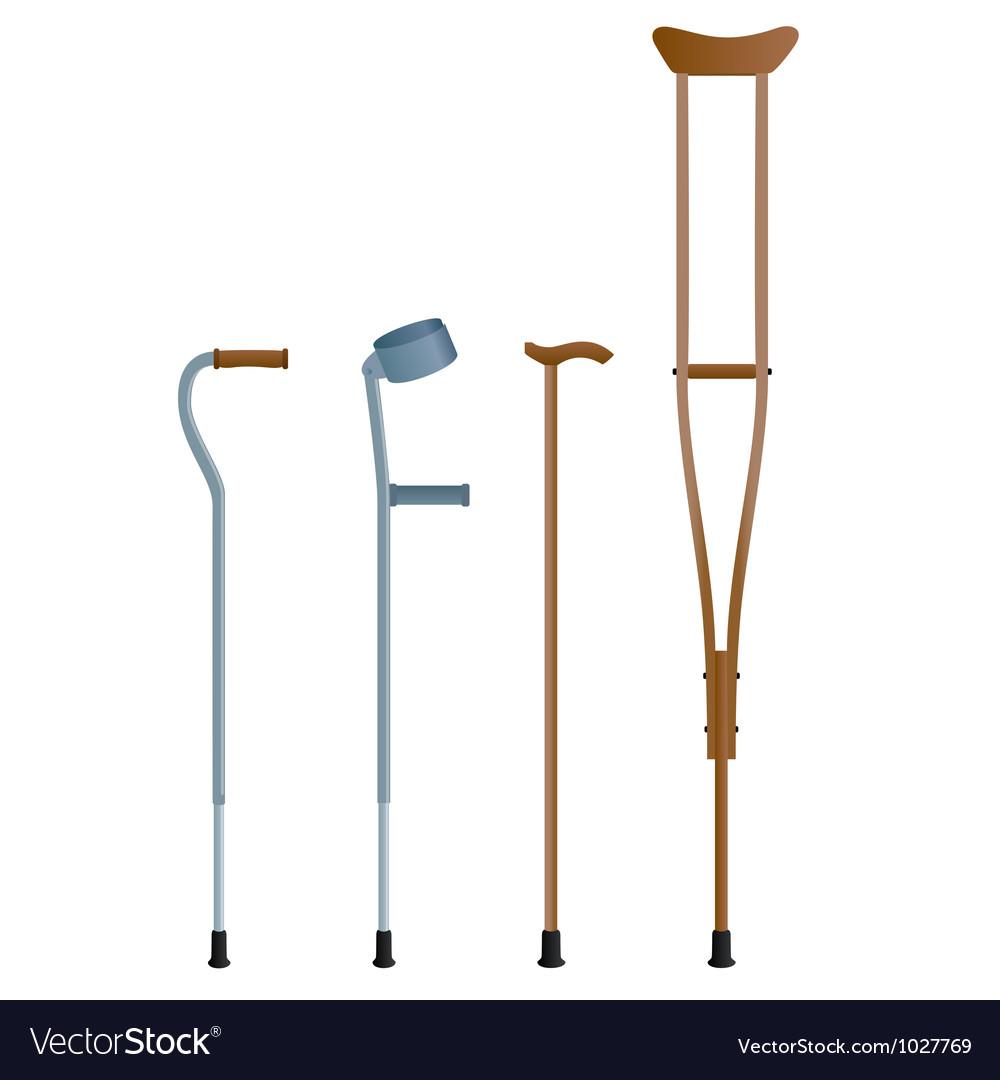 Crutches vector   Price: 1 Credit (USD $1)