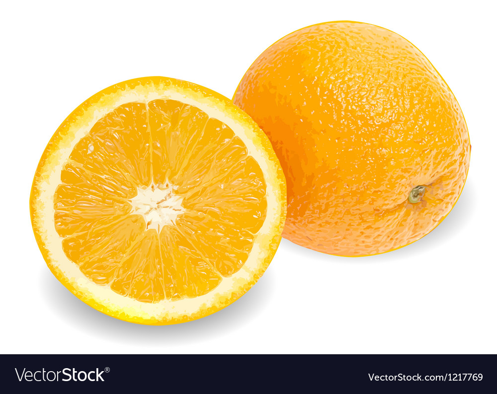 Fresh juicy orange background vector | Price: 3 Credit (USD $3)