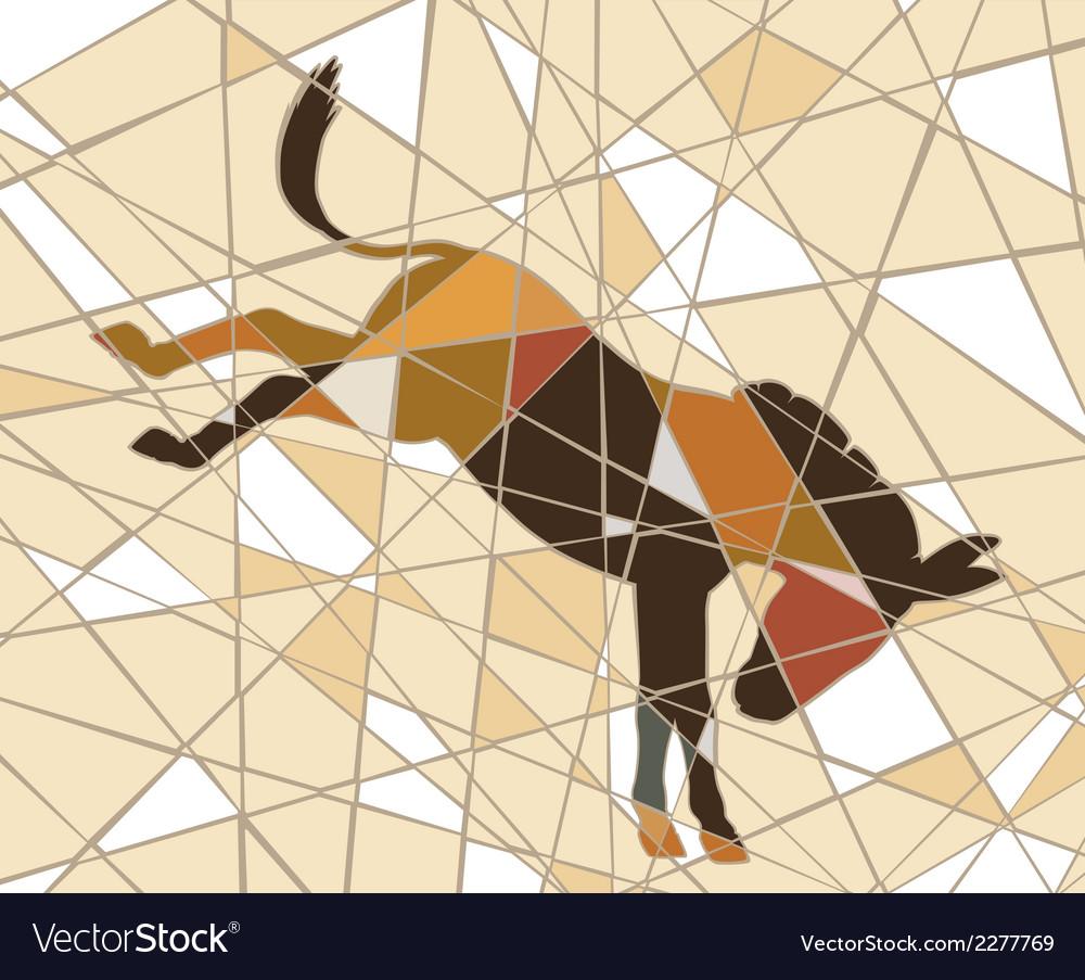 Kicking donkey vector | Price: 1 Credit (USD $1)