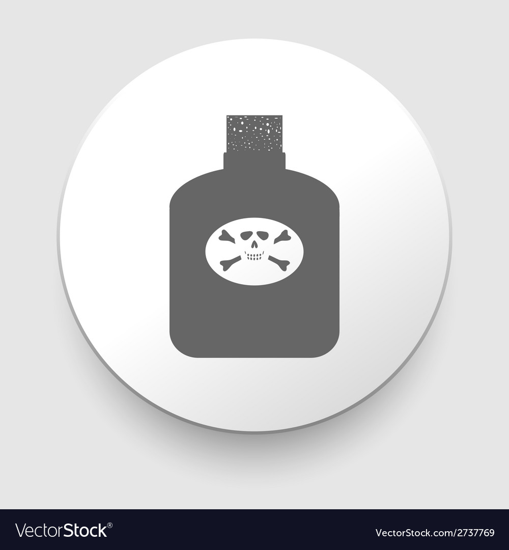 Poison bottle icon vector | Price: 1 Credit (USD $1)