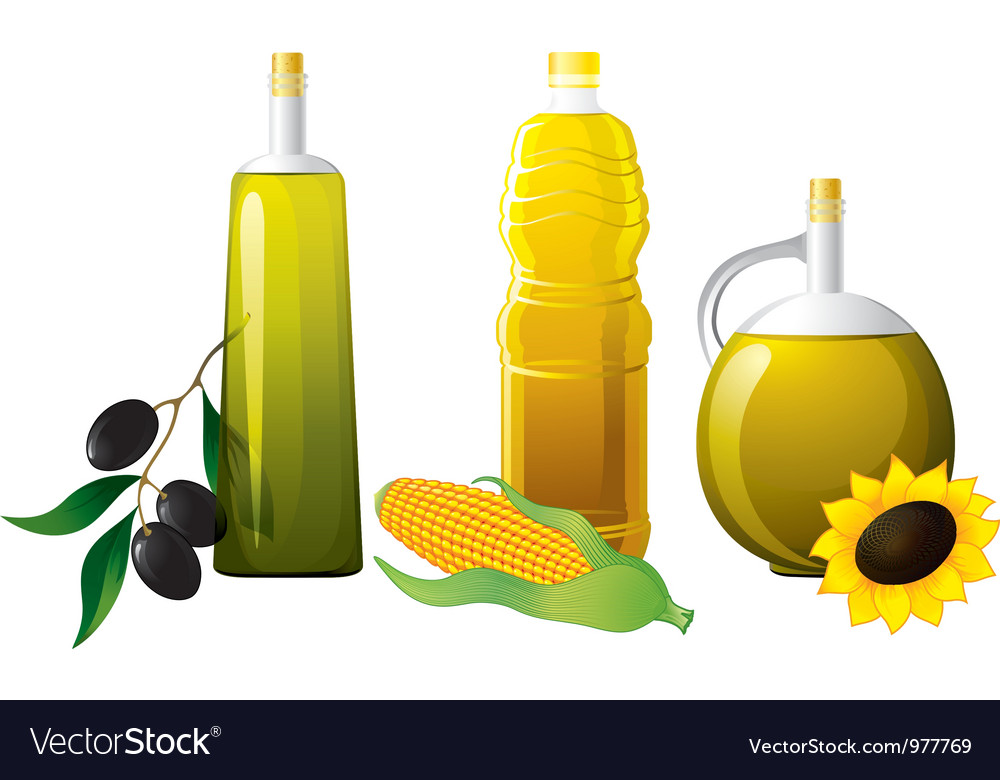 Set of bottle oil vector | Price: 3 Credit (USD $3)