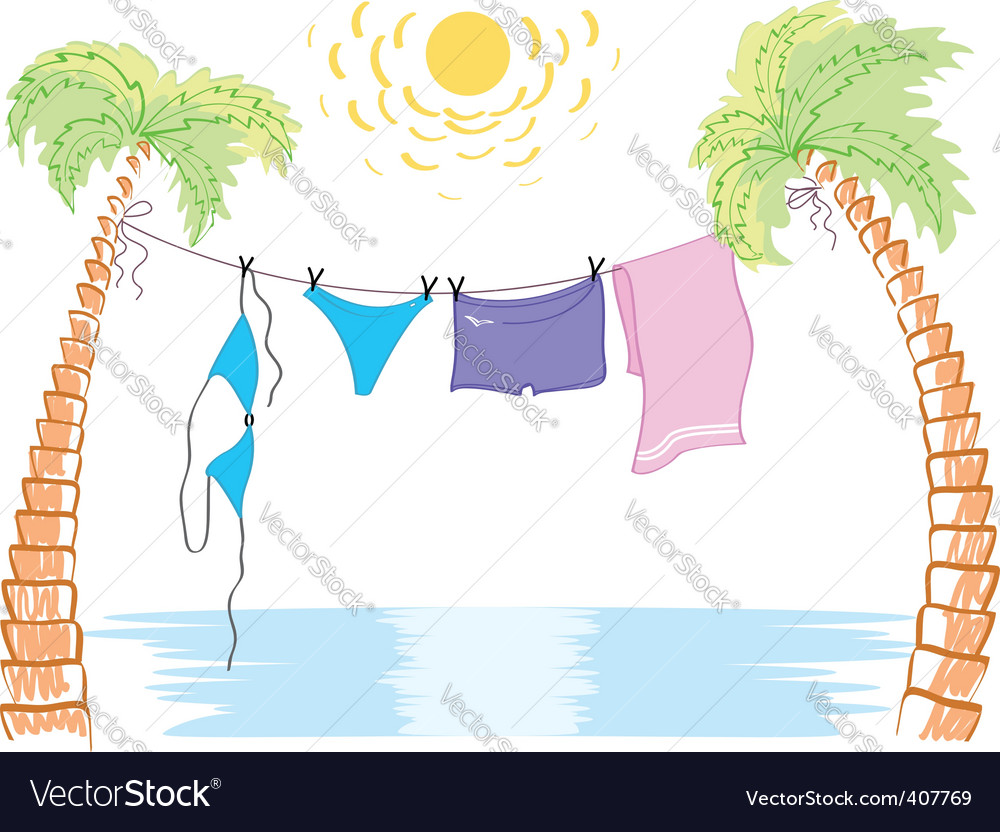 Summer palms vector | Price: 3 Credit (USD $3)