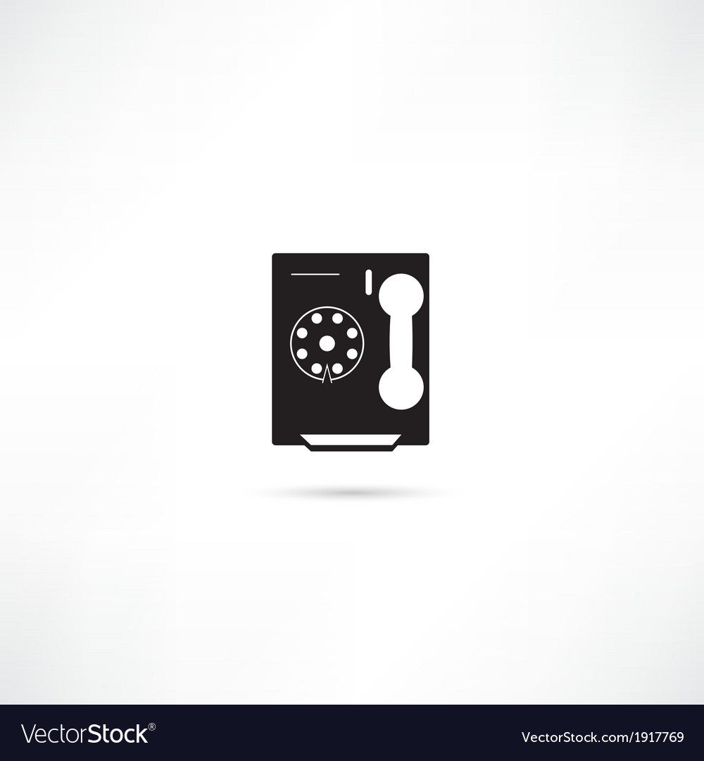 Telephone icon isolated vector | Price: 1 Credit (USD $1)
