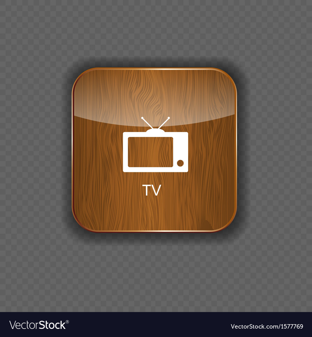 Tv wood application icons vector | Price: 1 Credit (USD $1)