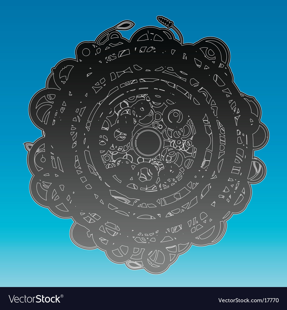 Abstract ancient circle design background vector   Price: 1 Credit (USD $1)