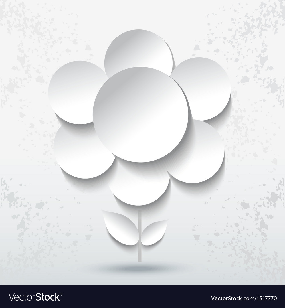 Abstract paper flower vector | Price: 1 Credit (USD $1)