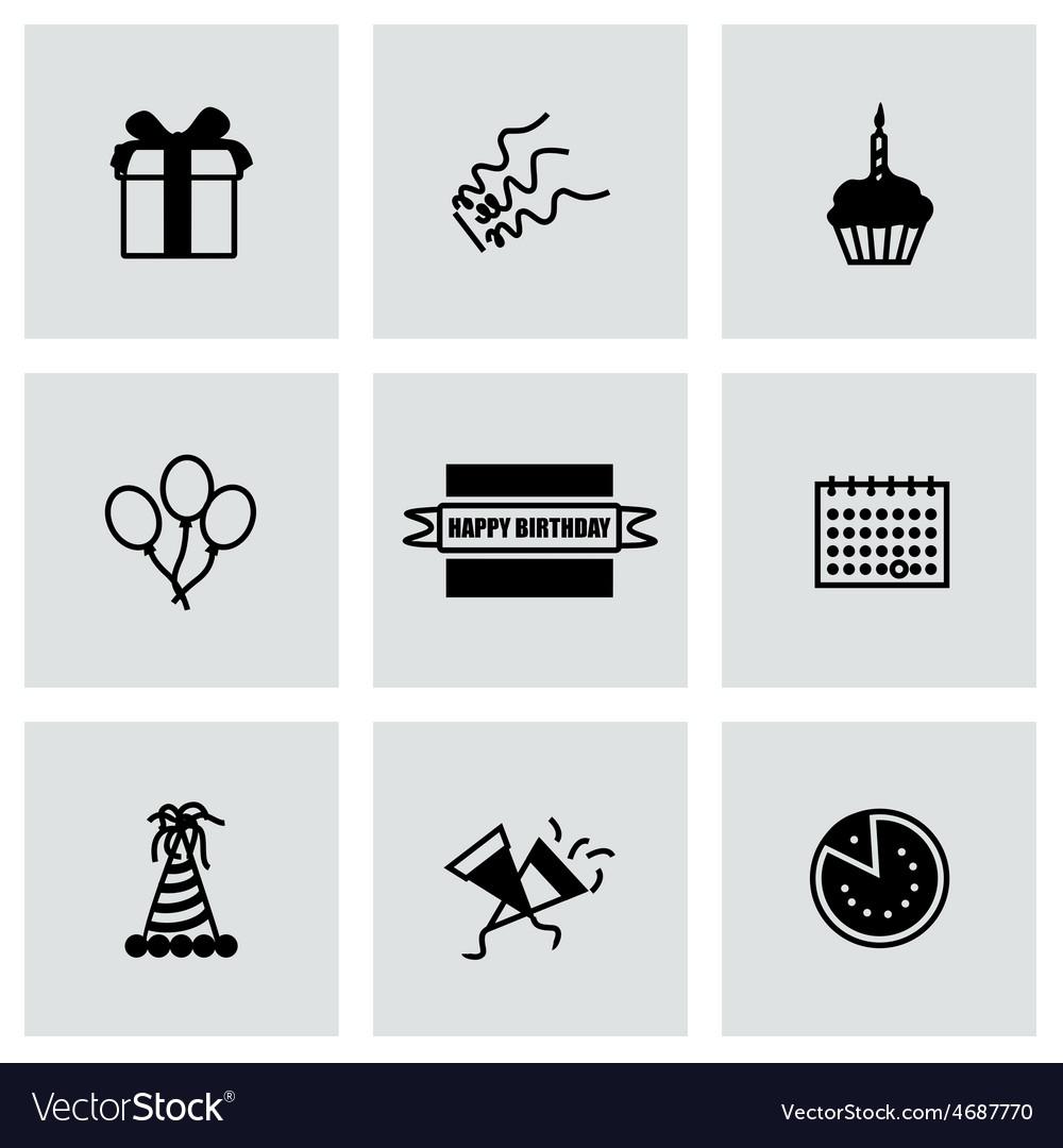 Birthaday icon set vector | Price: 1 Credit (USD $1)