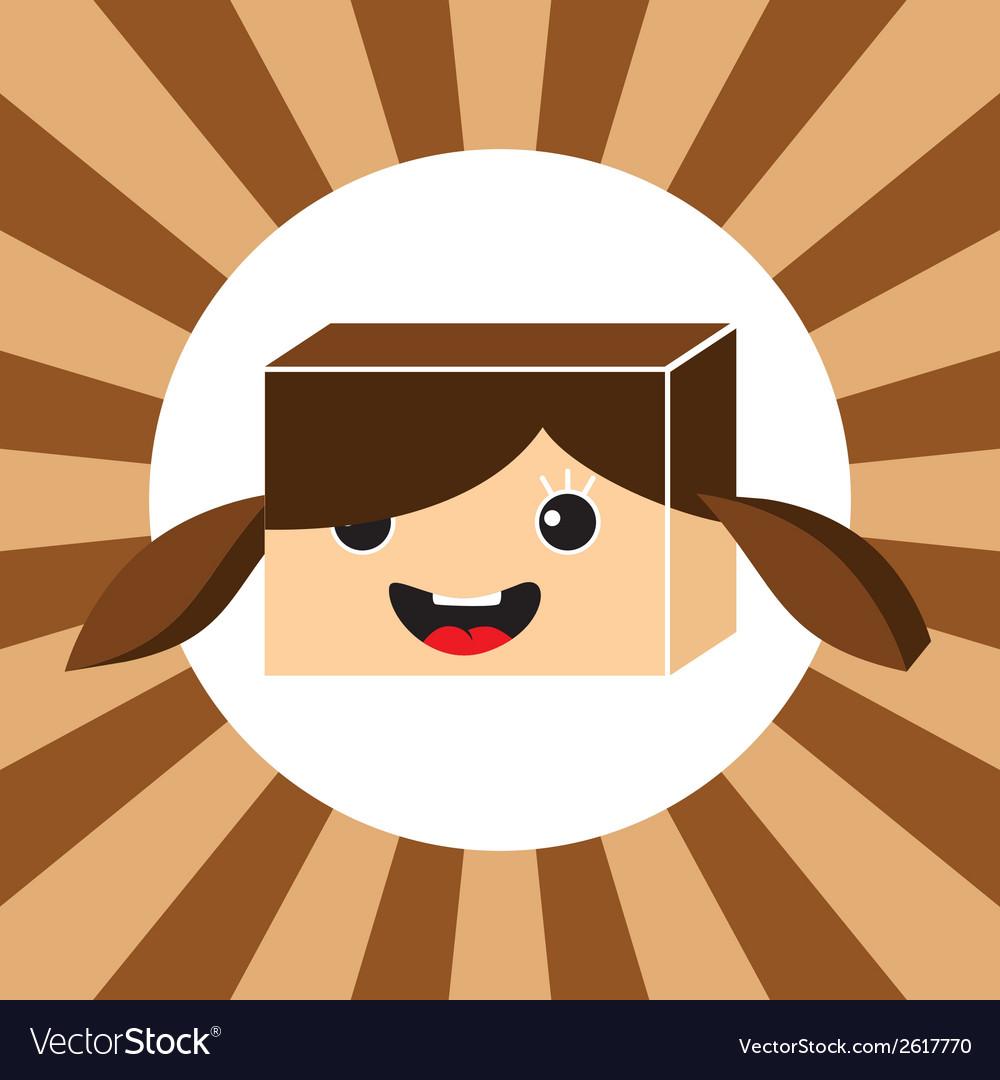Cartoon cube vector   Price: 1 Credit (USD $1)