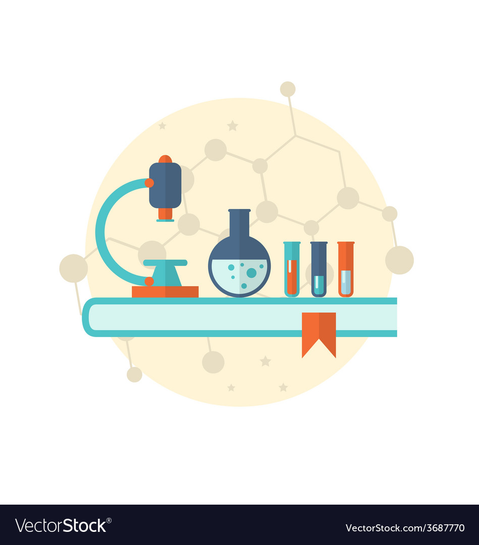 Flat icon of objects chemical laboratory - vector | Price: 1 Credit (USD $1)