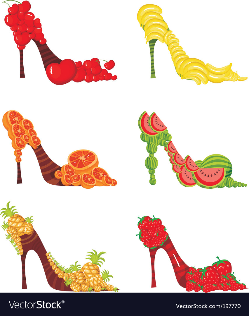 Fruit shoes vector | Price: 1 Credit (USD $1)