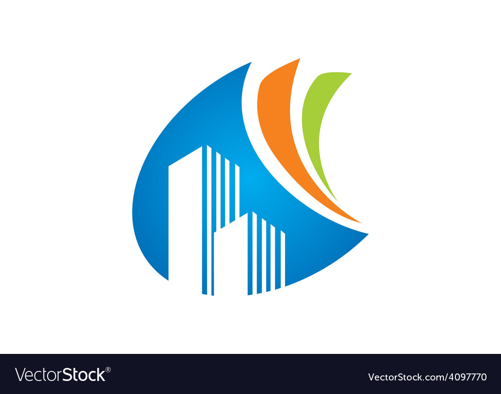 Modern building abstract logo vector | Price: 1 Credit (USD $1)