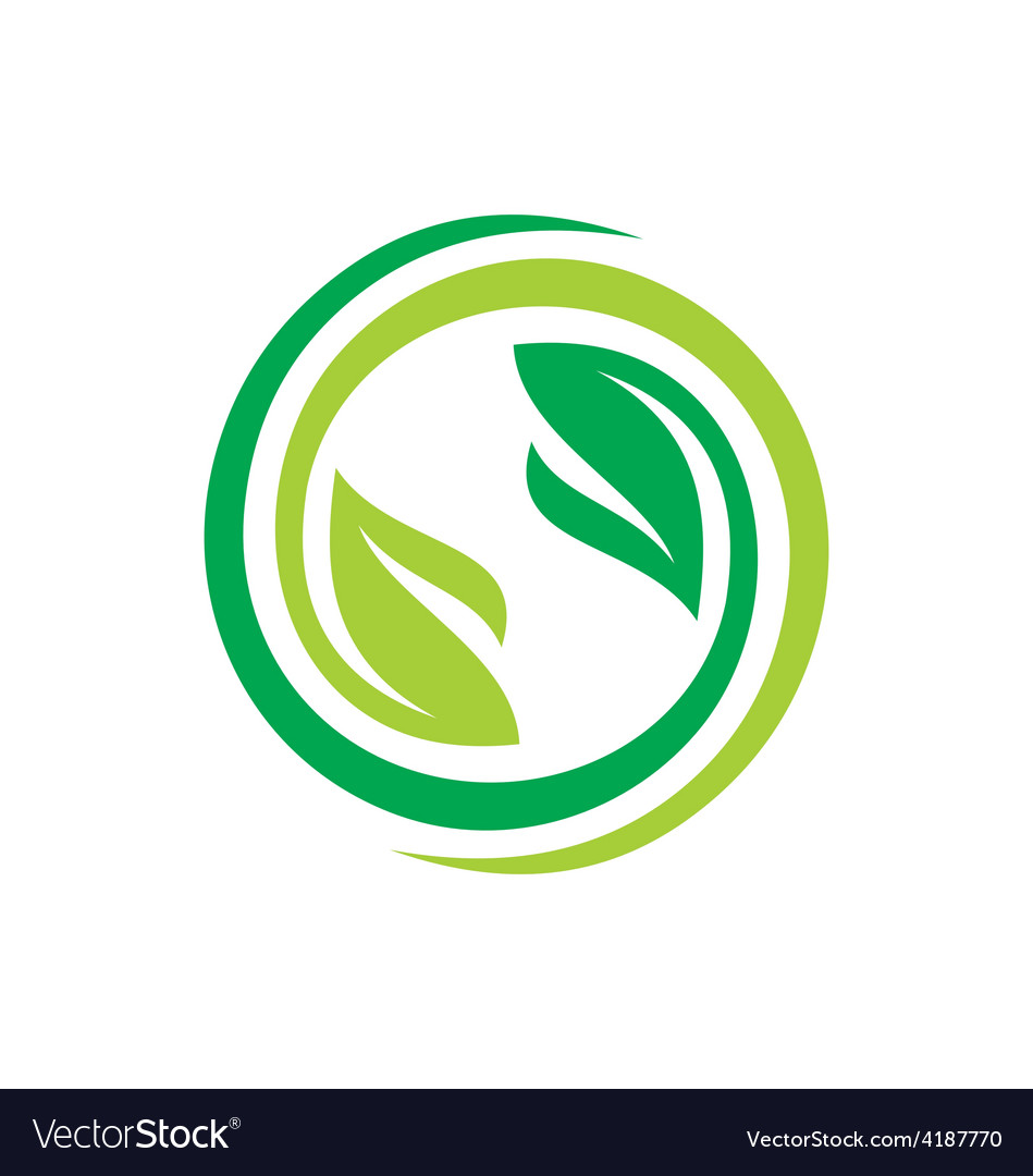 Recycle green leaf environment logo vector | Price: 1 Credit (USD $1)