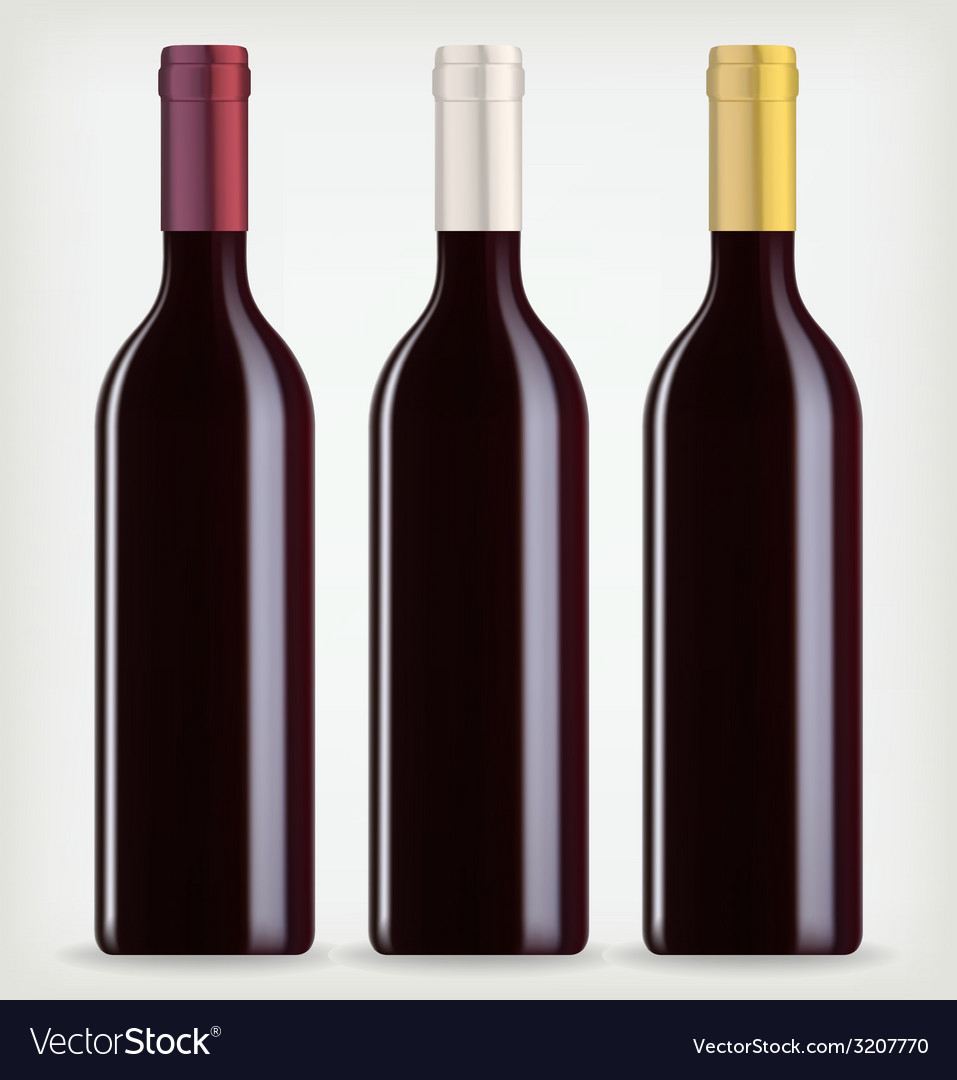 Three bottles of wine vector | Price: 1 Credit (USD $1)