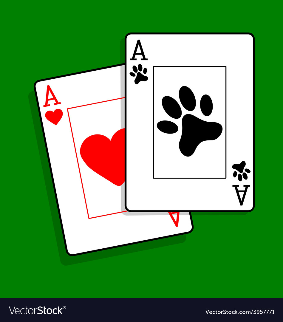 Ace of paws playing cards vector | Price: 1 Credit (USD $1)