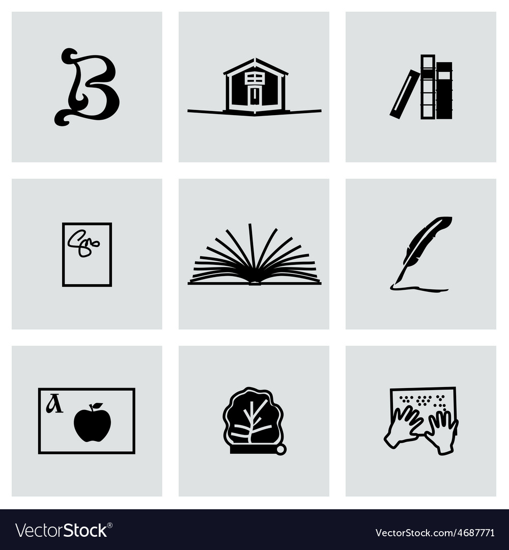 Book icon set vector | Price: 1 Credit (USD $1)