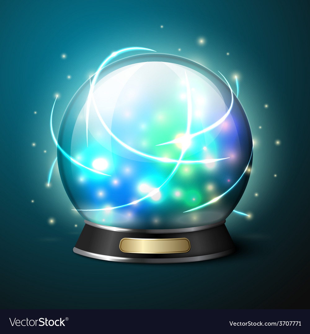 Bright glowing crystal ball for fortune vector | Price: 1 Credit (USD $1)