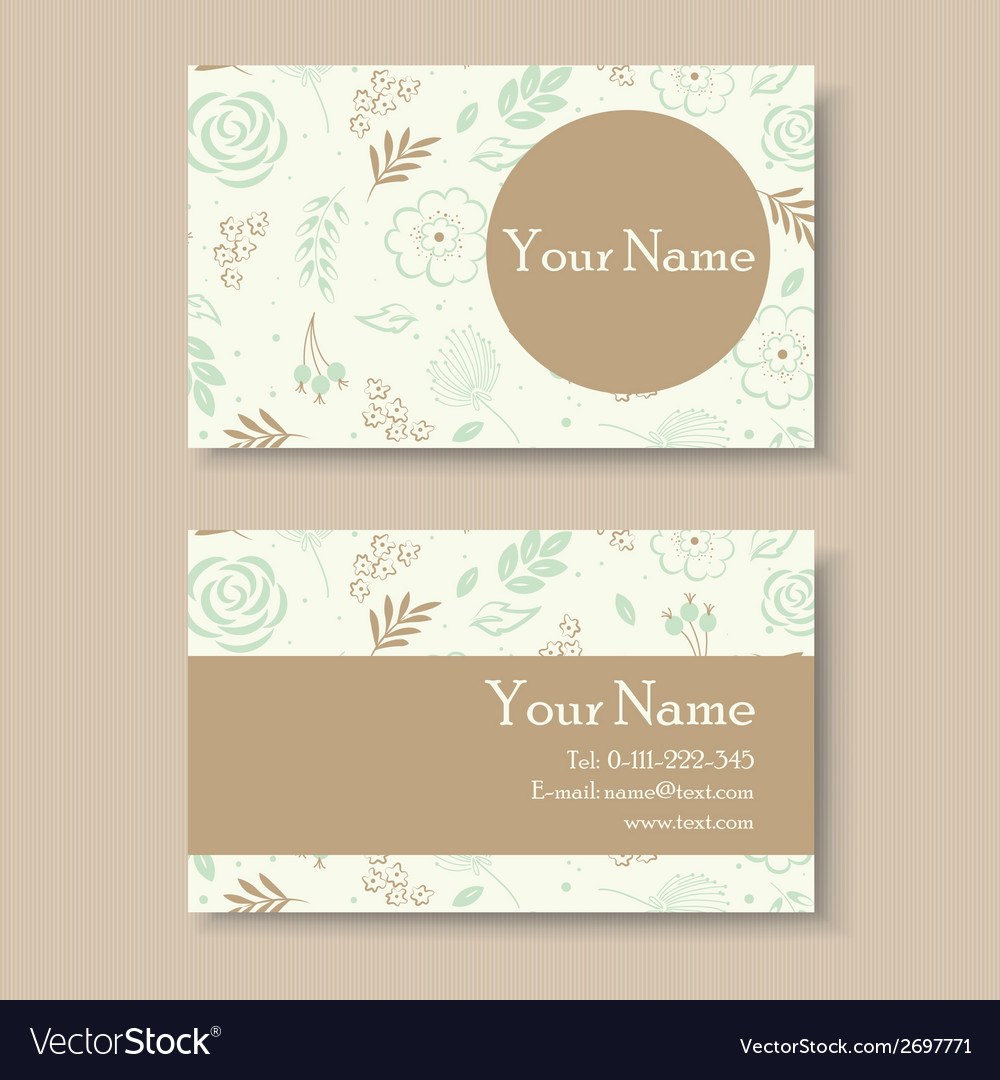 Business card with green background vector | Price: 1 Credit (USD $1)