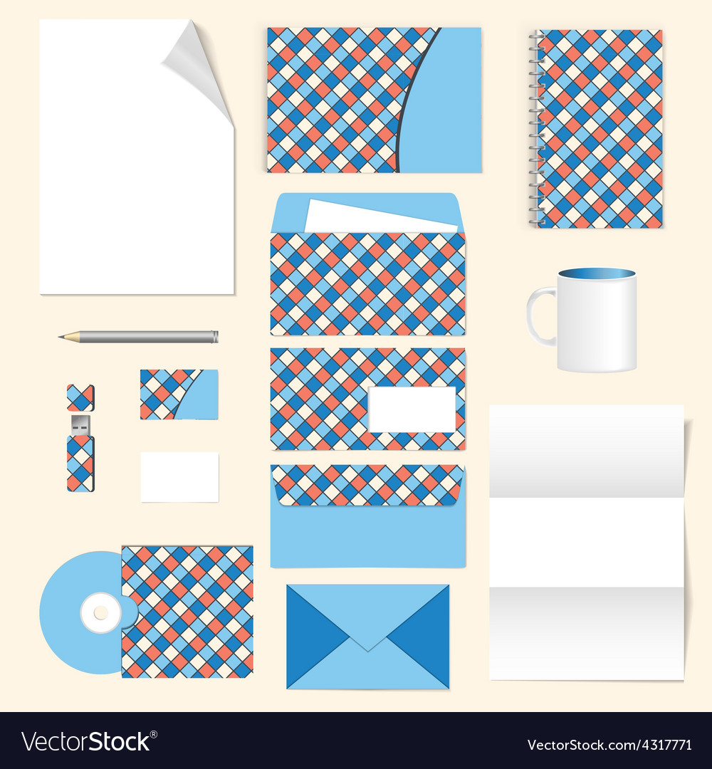 Corporate identity stationery template design vector   Price: 1 Credit (USD $1)