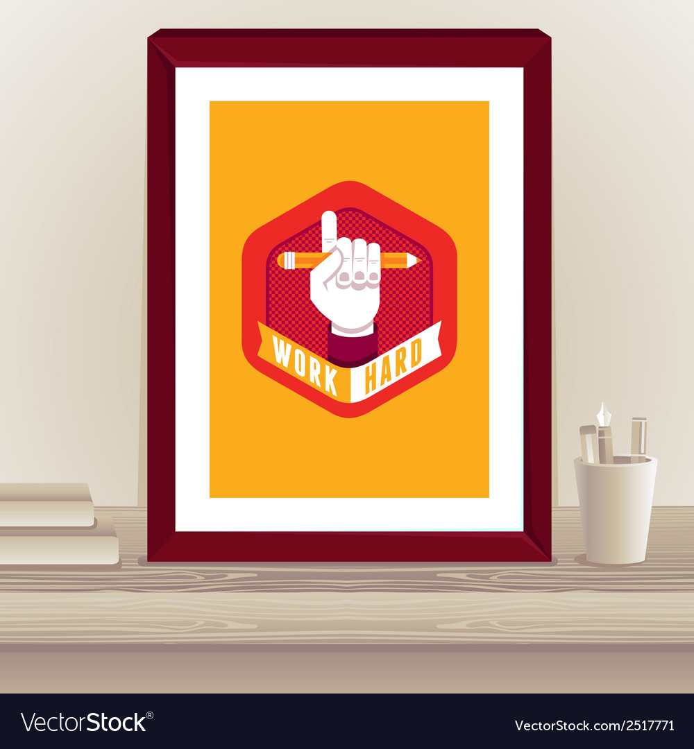Designer poster in frame vector | Price: 1 Credit (USD $1)