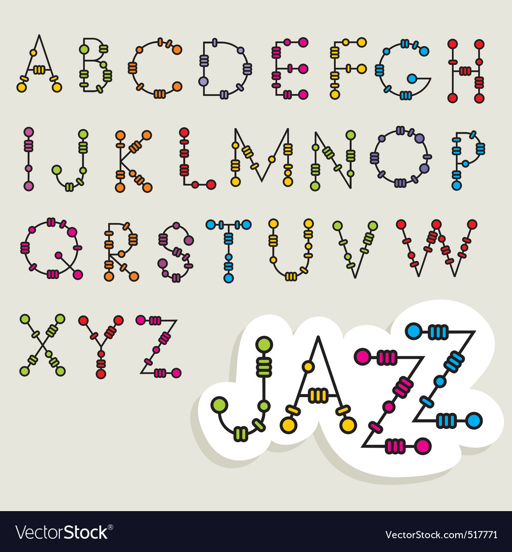 Fun latin alphabet vector | Price: 1 Credit (USD $1)