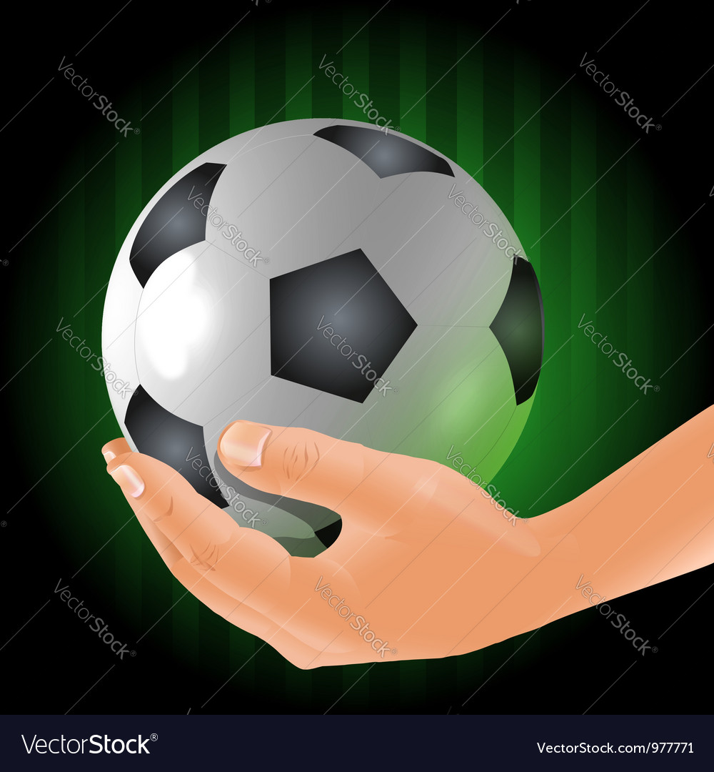 Holding the ball vector | Price:  Credit (USD $)
