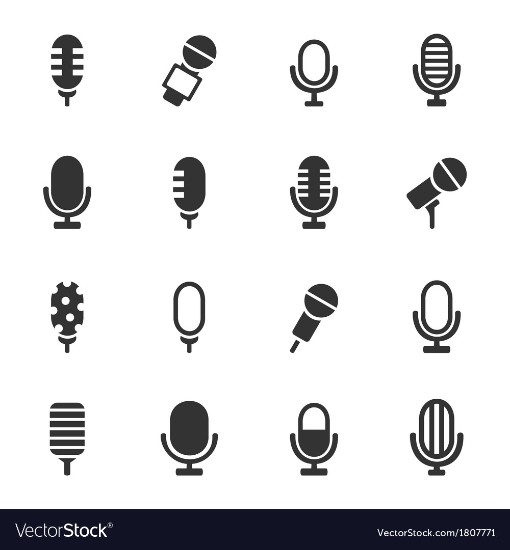 Microphone an icon vector | Price: 1 Credit (USD $1)