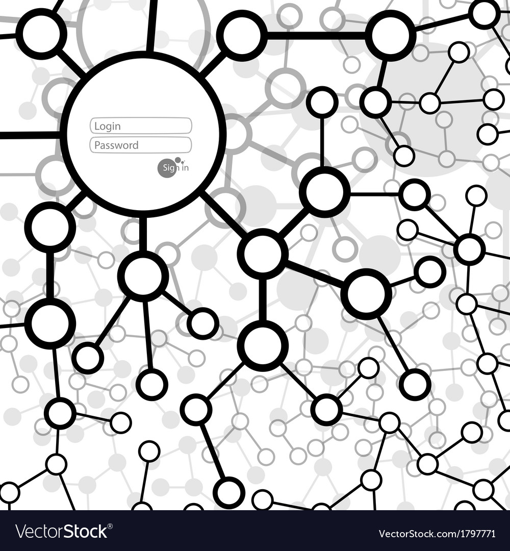 Molecule and communication background vector | Price: 1 Credit (USD $1)