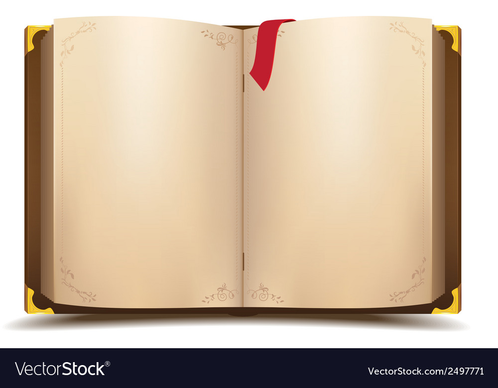 Old open magic book vector | Price: 1 Credit (USD $1)