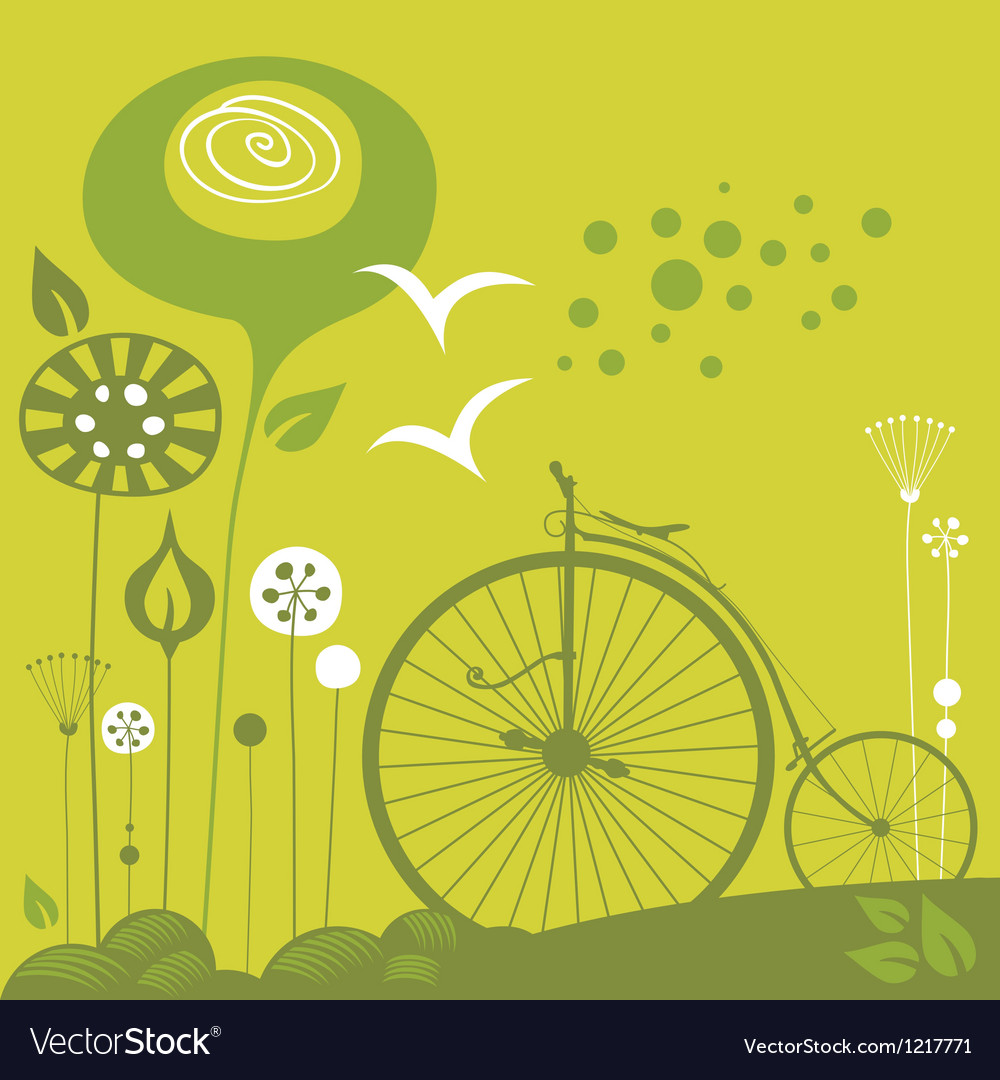 Penny farthing background vector | Price: 1 Credit (USD $1)