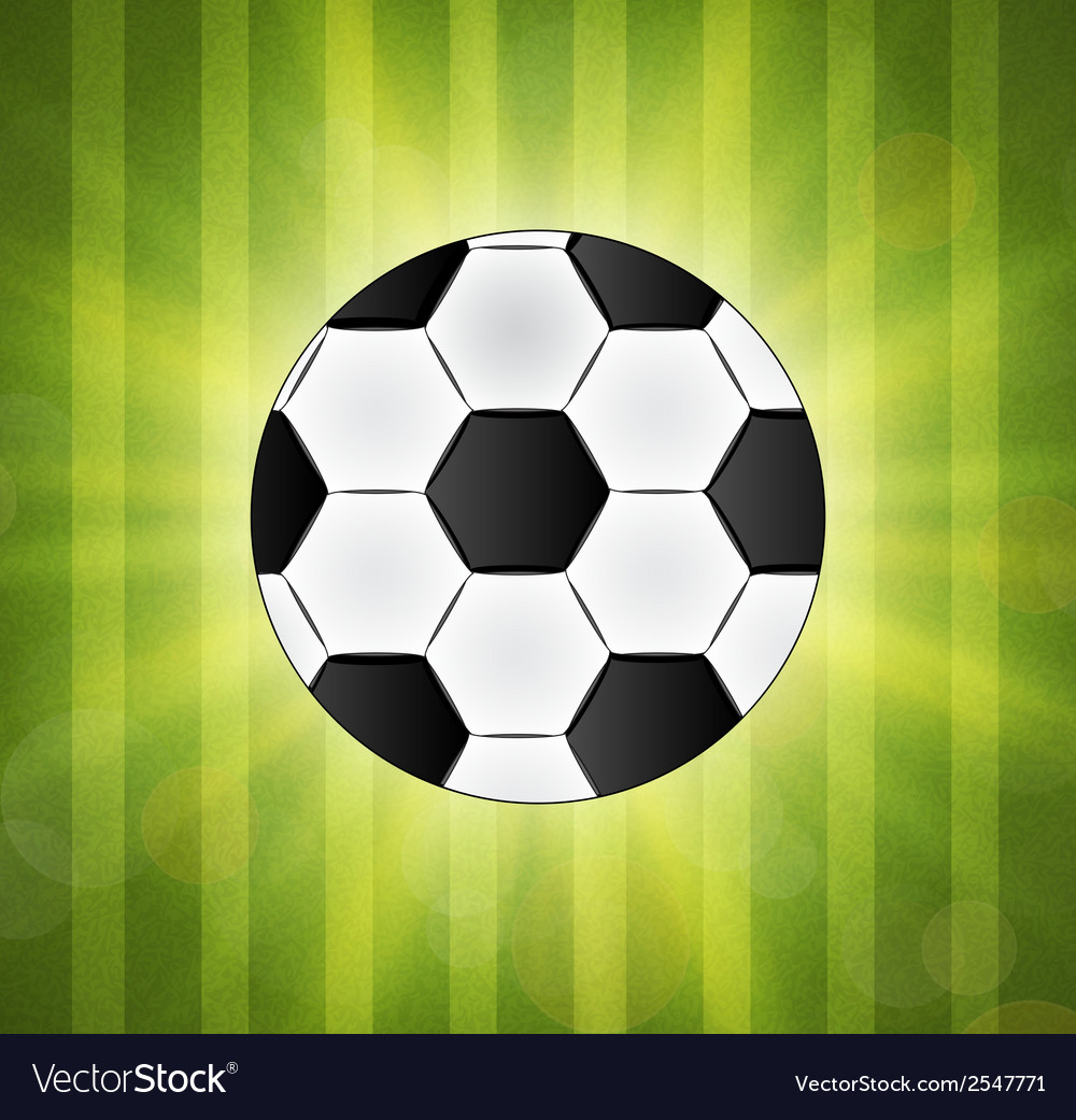 Soccer ball on green background poster design with vector | Price: 1 Credit (USD $1)