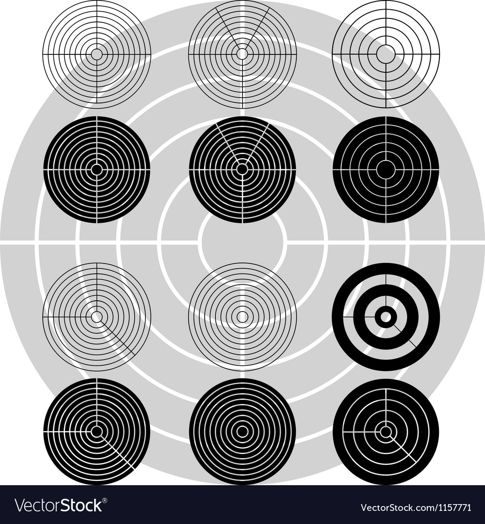 Stencils of targets first variant vector | Price: 1 Credit (USD $1)