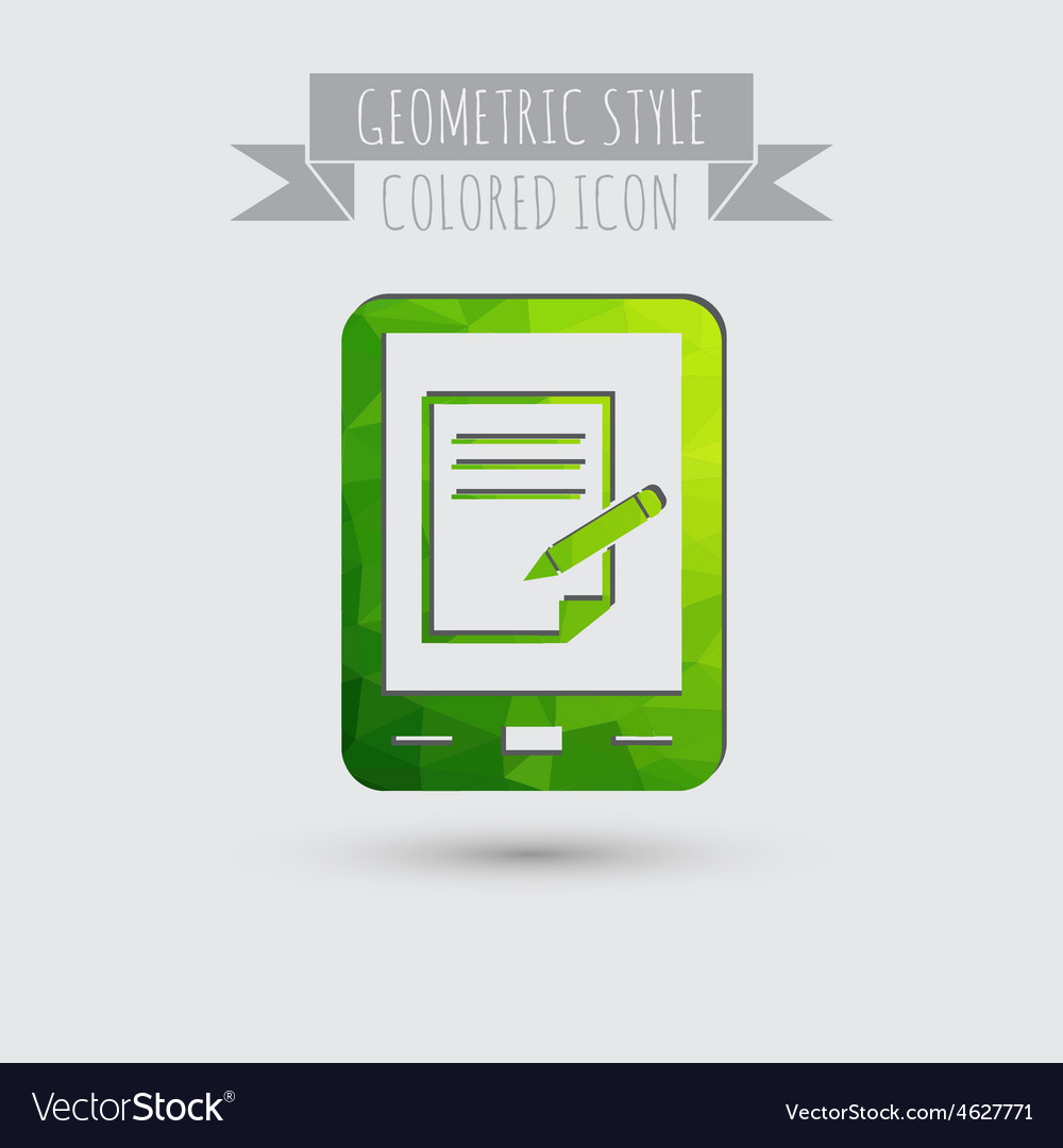 Tablet pad with sheet of paper vector   Price: 1 Credit (USD $1)