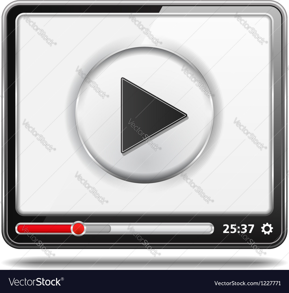 Video player icon vector | Price: 3 Credit (USD $3)
