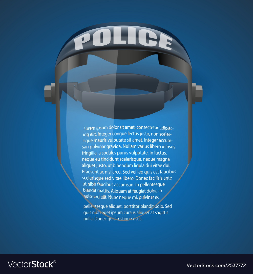 Background of police protect mask vector | Price: 1 Credit (USD $1)