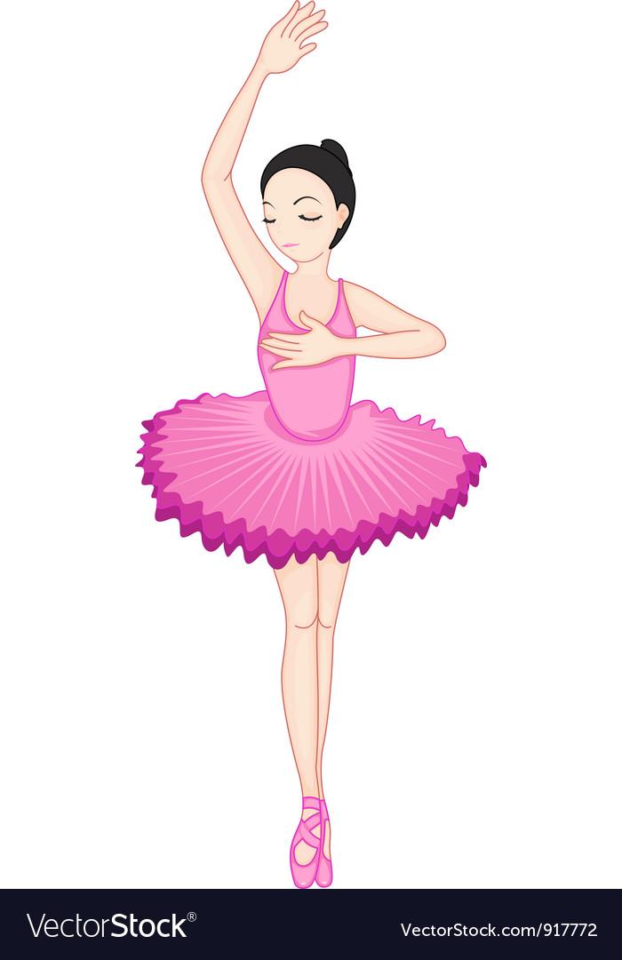 Ballerina posing vector | Price: 3 Credit (USD $3)