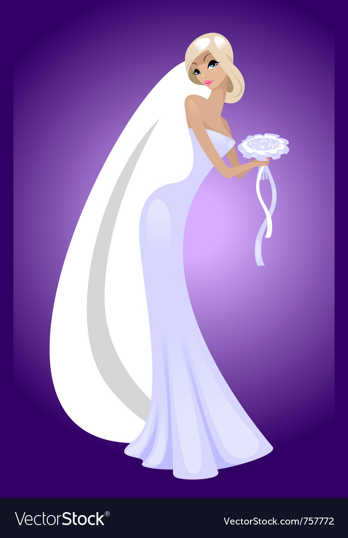 Beautiful bride vector | Price: 3 Credit (USD $3)