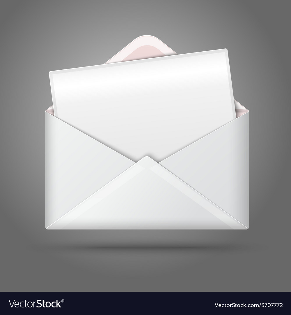 Blank white opened envelope and postcard vector | Price: 1 Credit (USD $1)