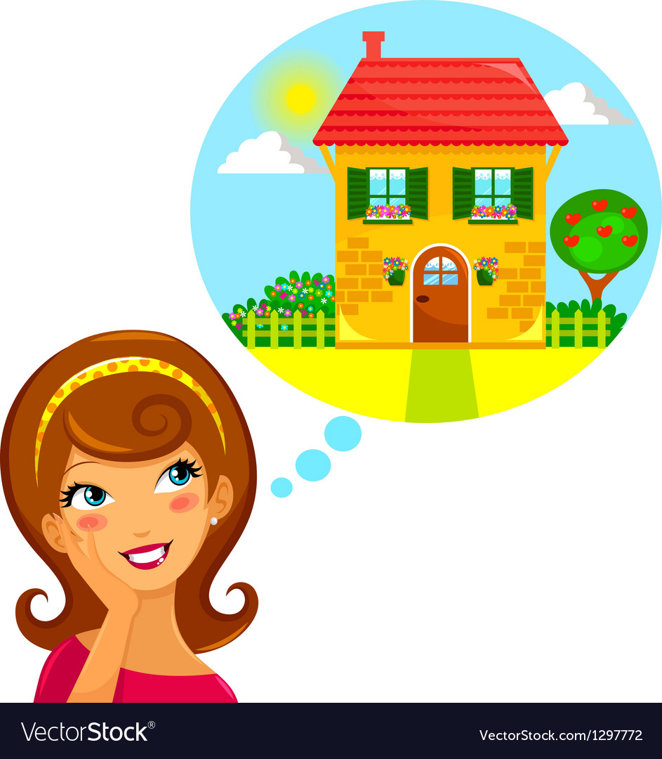 Dream home vector