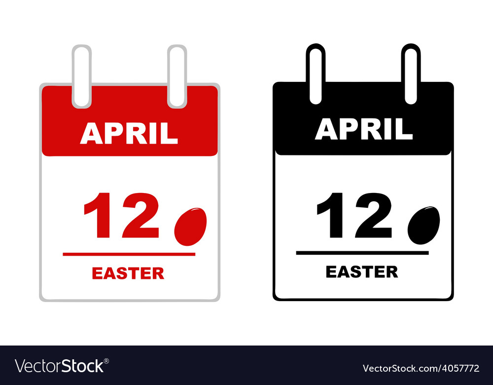 Easter calendar vector | Price: 1 Credit (USD $1)